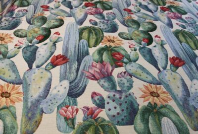 tissu cactus bleu