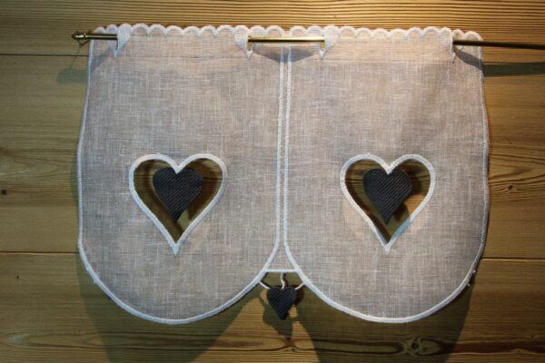 Brise-bise Chamonix fond blanc coeur gris