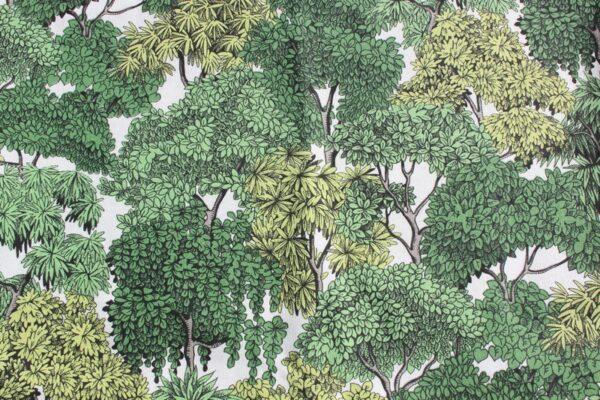 tissu imprimé panoramique foret