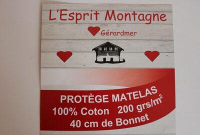 protège matelas molleton de coton ht 40cm