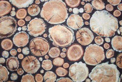 tissu rondelles de bois