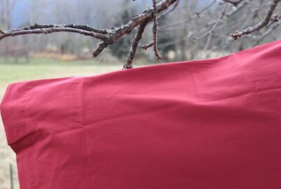 taie percale bordeaux