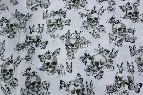 tissu imprimé tête de mort