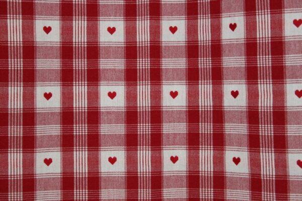 tissu cervin rouge et blanc