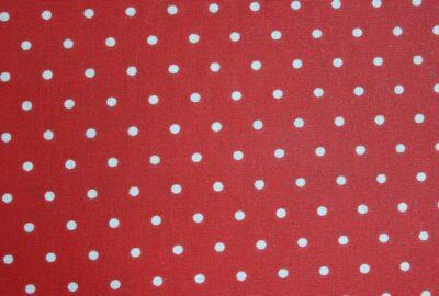 tissu pois rouge en 160cm