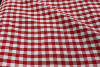tissu vichy rouge et blanc