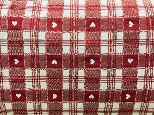 tissu vercors rouge en 280cm de large