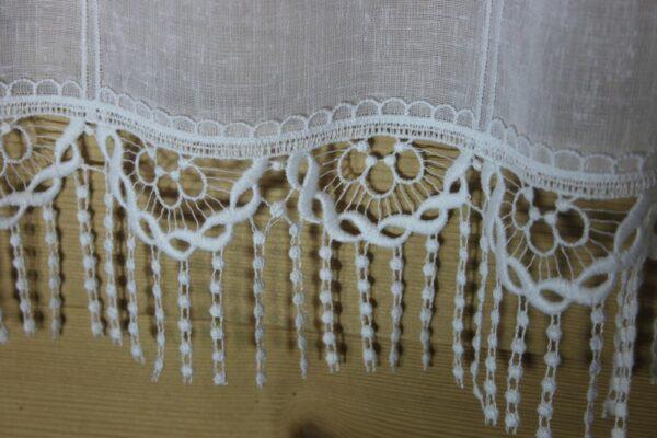 voilage blanc cordage